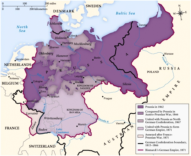 german unification map