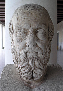 picture of a sculpted bust of herodotus